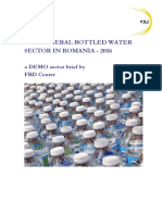 FRD Center the Mineral Bottled Water Sector Romania 2016 Decrypted