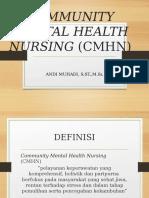 Community Mental Health Nursing CMHN