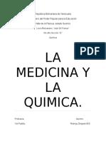 La Quimica y La Medicina