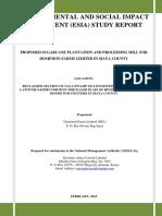 ESIA _1210 Dominion Farms Ltd in Siaya Report