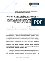 Nota Prensa Carpeta de Salud 2017 Cast