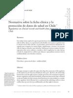MUÑOZ CORDAL, G.. 2016. Normativa Sobre La Ficha Clínica y La Protección de Datos de Salud en Chile