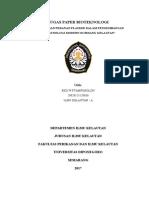 Tugas Paper Bioteknologi