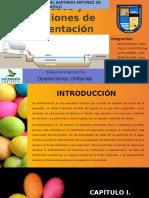 Procesos y Operaciones de Sedimentación