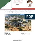 Caractéristiques Géologiques Gitologiques Et Métallogéniques Des Gisements de Type VMS Au Maroc