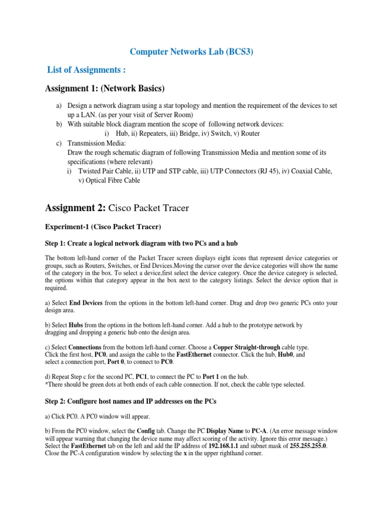 Computer Networks Assignment 6th Semester Routing Wireless Lan Cable For Connecting To A Hub Or Switch Straight Through