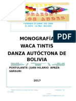Monografia de Danza Juan h Corazon de Los Andes Word