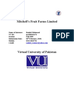 Mitchell's Fruit Farms Pvt. Ltd. Virtual University of Pakistan Internship Report