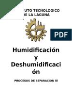 Humidificación y Deshumidificación