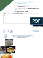 Formato de Practicas Profesionales - Unicach - Gastronomia
