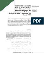 Fórum Sobre Medicalização Da Educação e Da Sociedade
