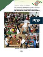 """UNA MIRADA A LA FORMACION DE DOCENTES DE PRIMERA INFANCIA EN LA AMAZONIA COLOMBIANA """"SÍNTESIS INFORME FINAL DE AUTOEVALUACIÓN CON FINES DE  ACREDITACIÓN DE ALTA CALIDAD PROGRAMA DE LICENCIATURA EN PEDAGOGIA INFANTIL""""."""