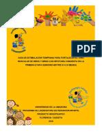 GUÍA DE ESTIMULACIÓN TEMPRANA PARA FORTALECER EL TONO MUSCULAR DE NIÑOS Y NIÑAS CON HIPOTONÍA CONGÉNITA EN LA  PRIMERA ETAPA SENSORIO-MOTRIZ (0 A 24 MESES)
