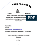 24158580 Project Report on Stress Management