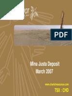 Mina Justa PDAC 2007