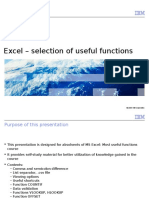 Excel – Selection of Useful Functions