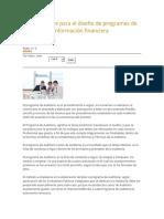 Aspectos Clave Para El Diseño de Programas de Auditoría de Información Financiera