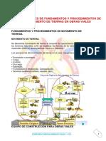 Resumen Grupo 2 Obras Viales - Aplicaciones de Fundamentos y Procedimientos de Movimiento de Tierras en o.V.