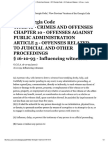 Influencing Witnesses_Georgia Law on Crimes and Offenses