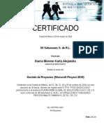 Certificados o y m Valves