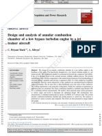 Design and Analysis of Annular Combustion Chamber of a Low Bypass Turbofan Engine in a Jet Trainer Aircraft