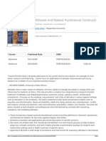 Sage Publications Inc - Attitudes and Related Psychosocial Constructs - 2016-09-13