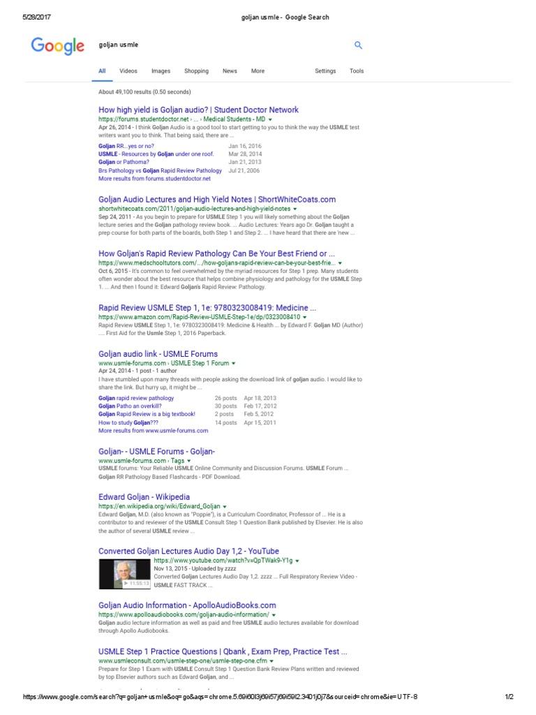 Goljan Usmle | United States Medical Licensing Examination
