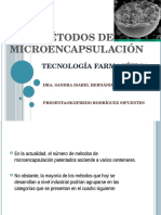 Métodos de Microencapsulación