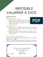Lección 5 - Es Imposible Engañar a Dios
