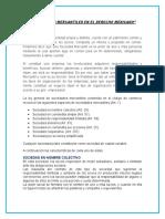 Las Sociedades Mercantiles en El Derecho Mexicano