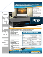 Panamax MB1500 Ups Spec Sheet