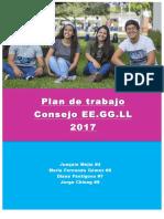 Plan de Trabajo de Unes Letras al Consejo EE.GG.LL 2017-2018