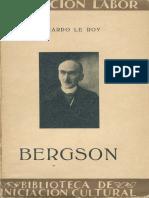 Bergson - Eduardo Le Roy