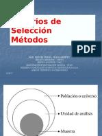 Criterios de Seleccion y Metodo