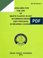 IRC SP 98 2013 Waste Plastic Dry Process.pdf