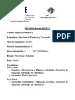 Máquinas de Elevación y Transporte (Electiva)