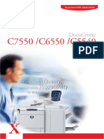 Xerox Fuji DocuCentre c5540 c6550 c7550 Brochure
