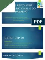 Apresentação GT POT - Psi Org UFS