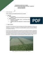 Avance de La Frontera Agricola Ecuador