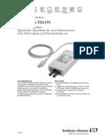 Technische Information Commubox FXA195