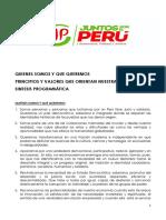 Identidad, principios, valores y programa de Juntos por el Perú