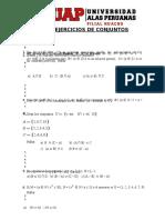Ejercicios de Conjuntos Uap-1-1