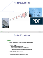 ESCI6000 Radar Equations