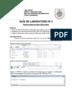 Guia 02 Laboratorio Diseño de Base de Datos Relacionales 2016