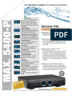 Panamax M5400PM Spec Sheet