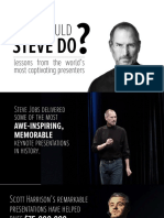 What Would Steve Do 10 Lessons From the World's Most Captivating Presenters