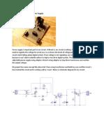 DIY 12 Volt Adjustable Power Supply