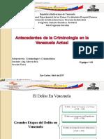 Antecedentes de La Criminologia en Venezuela