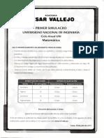 Primer Simulacro Universidad Nacional de Ingenieria Ciclo Anual UNI - 2012 Matematica