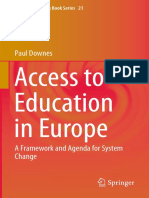Access to Education in Europe, Paul Downes
